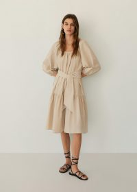 MANGO RIMINI Puffed sleeves dress – tie waist summer dresses