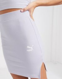 Puma ribbed mini skirt in lilac