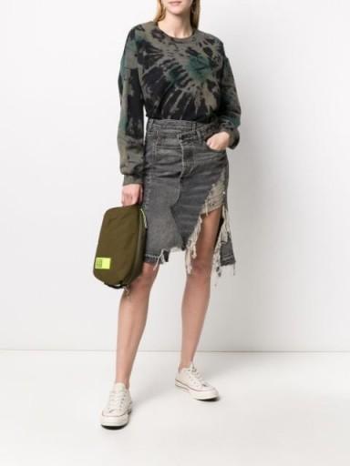 R13 Leyton frayed denim skirt | destroyed skirts