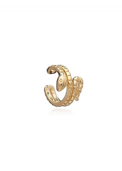 RACHEL JACKSON LONDON Statement snake earring cuff gold ~ ear cuffs