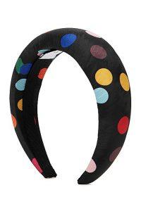 RACIL Black polka-dot satin headband / headbands