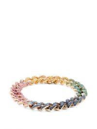 SHAY Rainbow Essential diamond & 18kt gold bracelet – luxe curb chain bracelets