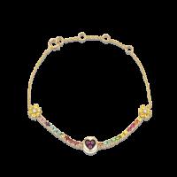 THE LAST LINE RAINBOW PETITE SUNSHINE TENNIS BRACELET | rubies | sapphires | diamonds | precious stones