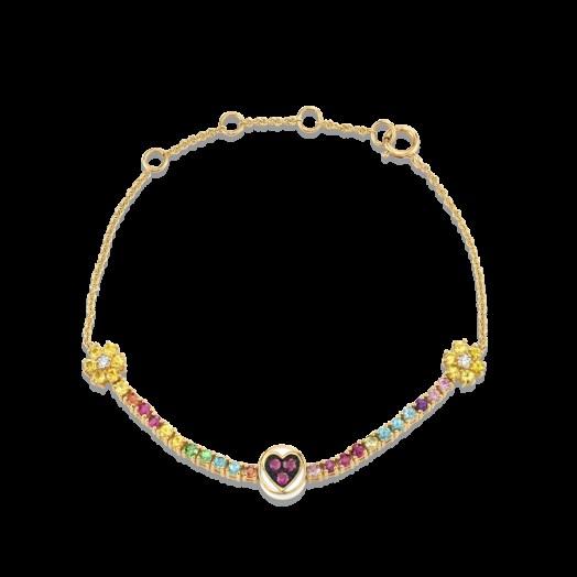 THE LAST LINE RAINBOW PETITE SUNSHINE TENNIS BRACELET | rubies | sapphires | diamonds | precious stones - flipped