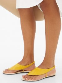 THE ROW Ravello yellow-leather flat sandals