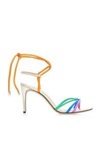 Alexandre Birman Rebecca Rainbow Strappy Metal Sandals