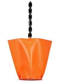 REJINA PYO Pippa orange leather top handle bag