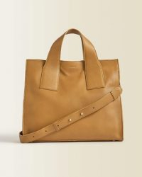 JIGSAW ROSCOE LEATHER WORK BAG CAMEL ~ everyday luxe