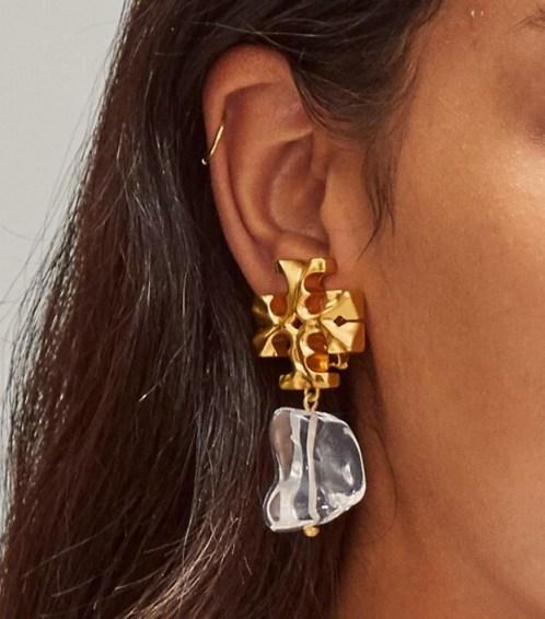 Tory Burch ROXANNE DROP EARRING / statement earrings - flipped