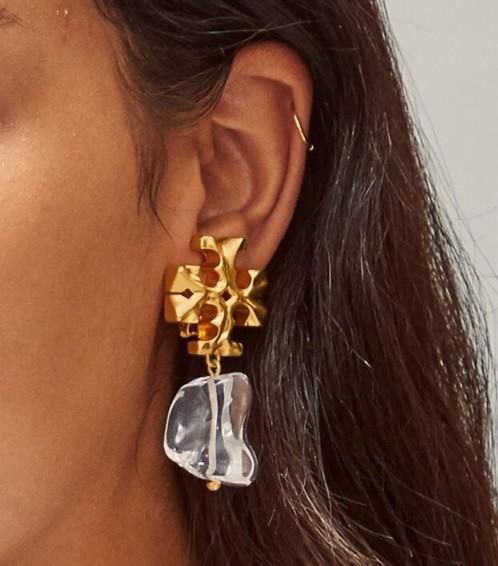 Tory Burch ROXANNE DROP EARRING / statement earrings