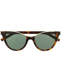 SAINT LAURENT EYEWEAR rimless top cat eye-frame sunglasses in tortoiseshell