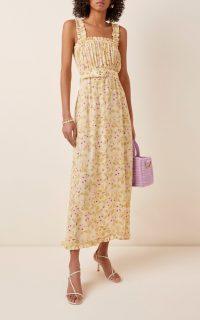 Faithfull The Brand Saint Tropez Ruffled Floral-Print Crepe Midi Dress