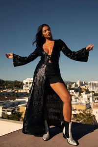 NASTY GAL See You at the Disco Sequin Longline Top