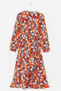 NASTY GAL Seed the Way Floral Wrap Dress