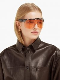 LOEWE Show oversized acetate sunglasses | large futuristic sunnies