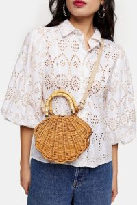 Topshop SICILY Straw Shell Grab Bag | summer bags | inspired by the ocean