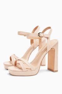 TOPSHOP SIENNA Pink Platform Heels