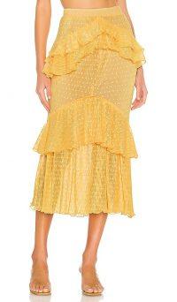 Song of Style Ada Midi Skirt Baby Yellow