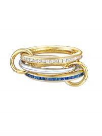 SPINELLI KILCOLLIN 18kt yellow gold Mozi linked ring / stacked rings