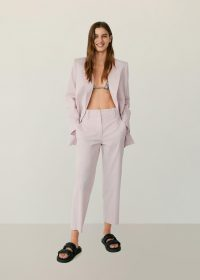 MANGO STUDIO Straight suit trousers / cropped pants