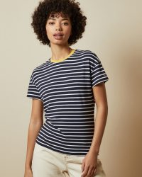 TED BAKER GGINNA Striped branded T-shirt / classic dark-blue stripe tee
