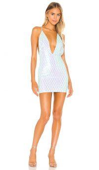 superdown Jiani Deep V Mini Dress | party glamour