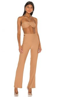 superdown x Draya Michele Paris Halter Pant Set Tan | summer evening co-ord