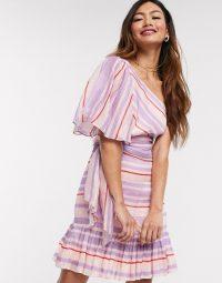 Talulah We Found Love stripe one shoulder mini dress in sweet stripe