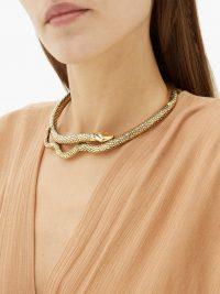 AURÉLIE BIDERMANN Tao gold-plated snake necklace ~ glamorous choker necklaces