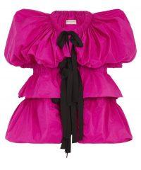DRIES VAN NOTEN Technical Puff-Sleeve Jacket | hot pink jackets