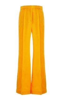 Joseph Tena Cotton-Blend Flared-Leg Trousers ~ orange flares