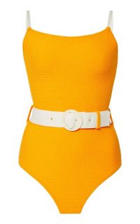 Solid & Striped The Nina Belted One-Piece Swimsuit / orange swimwear