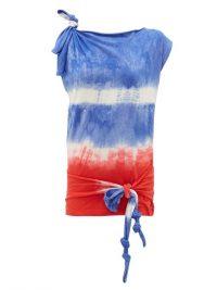 LOEWE PAULA'S IBIZA Tie-dye asymmetric knotted top