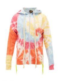 LOEWE PAULA'S IBIZA Tie-dye zip-up hooded sweatshirt / multicoloured sweat top