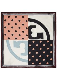 TORY BURCH Polka-dot print silk scarf / designer scarves