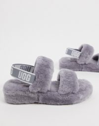 UGG Oh Yeah logo double strap sandals in soft amethyst