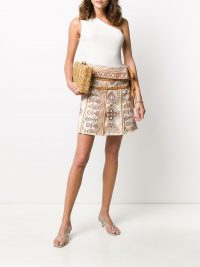 ULLA JOHNSON Shaia embroidered wrap skirt
