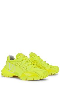 VALENTINO Valentino Garavani Climber leather sneakers / bright lime trainers