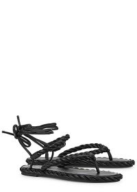 Valentino Garavani The Rope black leather sandals