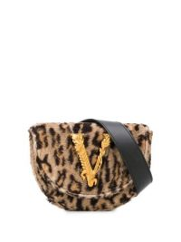 VERSACE Virtus leopard-print belt bag / luxe bum bags