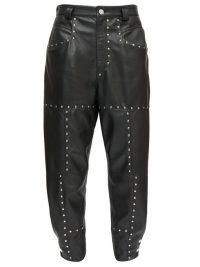 ISABEL MARANT Viamao studded leather trousers ~ luxury cropped pants