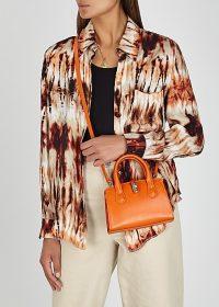VIVIENNE WESTWOOD Sofia small orange leather top handle bag