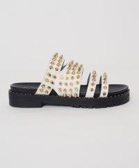 ONETEASPOON WHITE STUDDED SANDAL WHITE | summer stud sandals