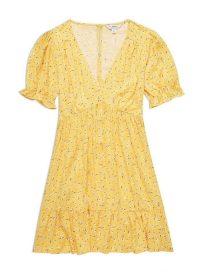 Miss Selfridge Yellow Ditsy Print Eloise Tier Tea Dress