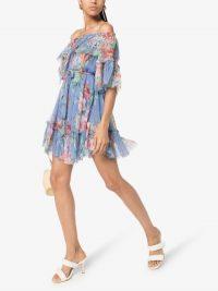 Zimmermann Prima Frilled Floral Silk Mini Dress ~ floaty summer dresses