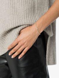 ZOË CHICCO 14kt gold diamond-embellished chain bracelet ~ luxe bracelets
