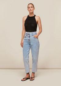 Whistles ACID WASH DENIM JEAN   high waist jeans