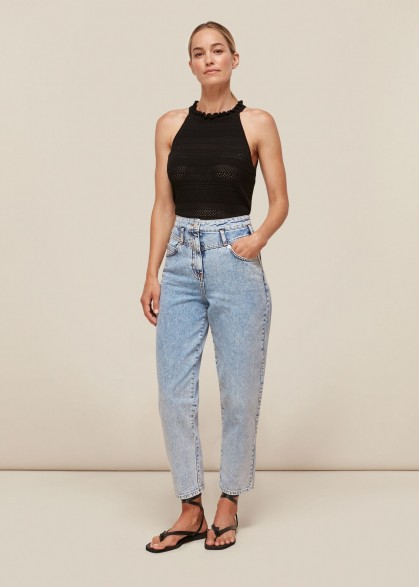 Whistles ACID WASH DENIM JEAN | high waist jeans