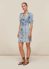 Whistles ACID WASH TIE DENIM DRESS