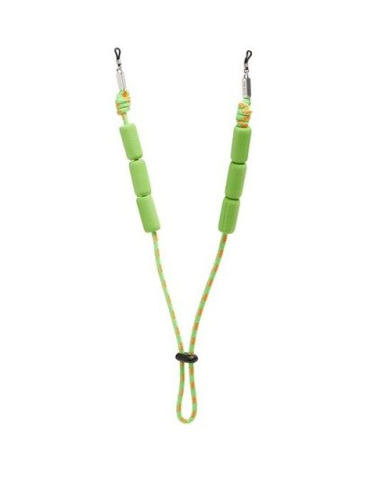 LOEWE PAULA'S IBIZA Adjustable braided cord sunglasses strap in green / bright summer eyewear straps - flipped